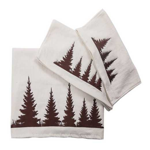 TL1763-OS-CR: HEA 3 pc Clearwater Pines Towel Set - Cream