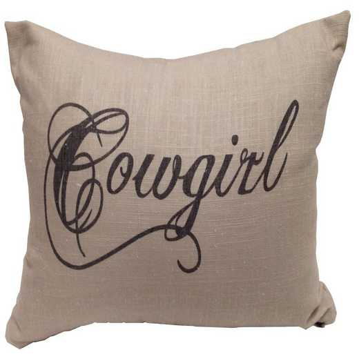 PL5118: HEA Cowgirl Linen Pillow - 12x19