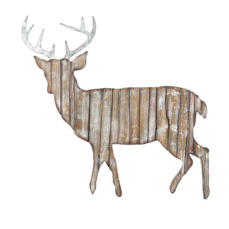 LD2404: HEA Deer Cut Out Wall Hanging
