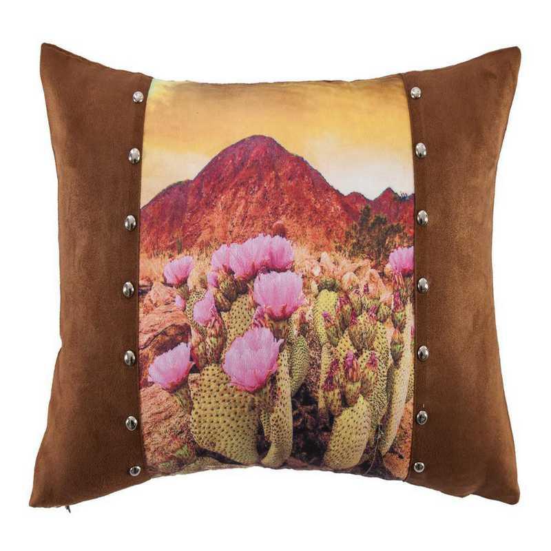 WS1753P10: HEA Desert Scene Pillow with Studs 18x12