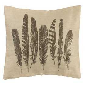 PL1804: HEA Feather Burlap Pillow - 26x16