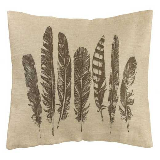 PL1804: HEA Feather Burlap Pillow - 26x16