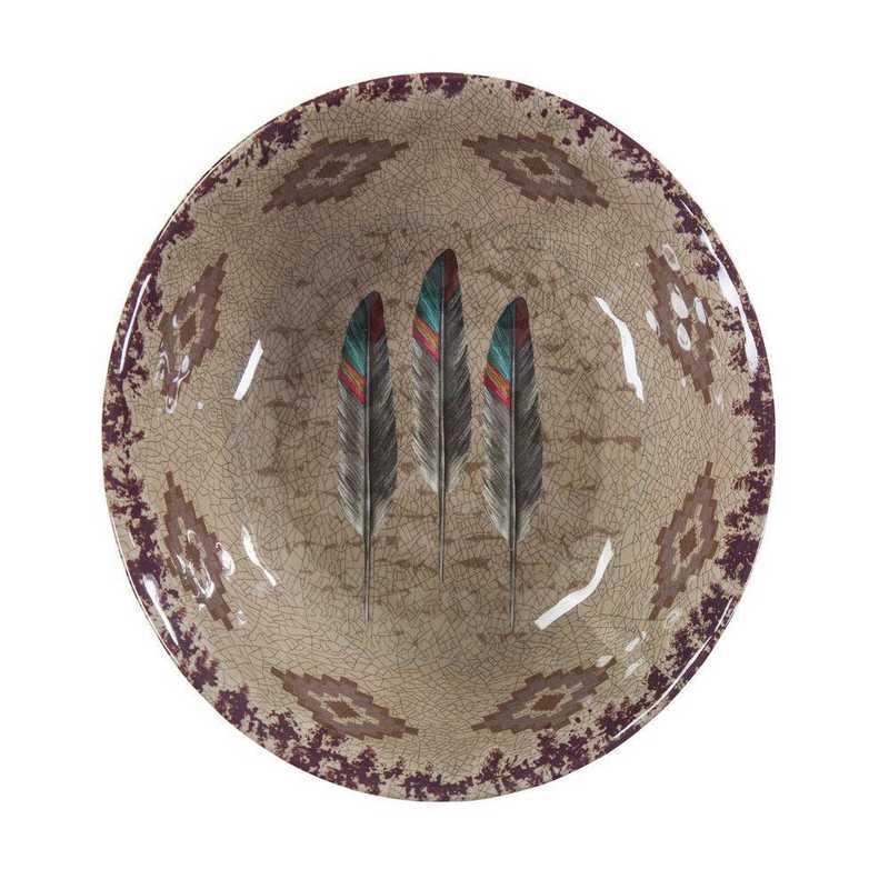 DI1754BW04: HEA 4pc Feather Melamine Bowl