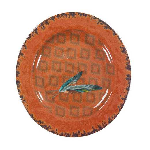 DI1754DP04: HEA 4pc Feather Melamine Dinner Plate