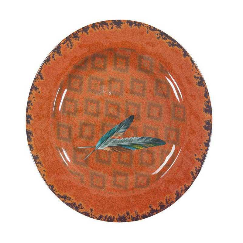 DI1754DP04: HEA 4pc Feather Melamine Dinner Plate