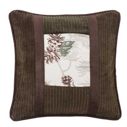 NL1733P1: HEA Forest Pine Pinecone Pillow - 18x18
