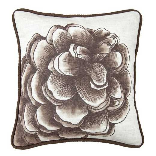 NL1733P2: HEA Forest Pine Water Print Pillow - 18x18