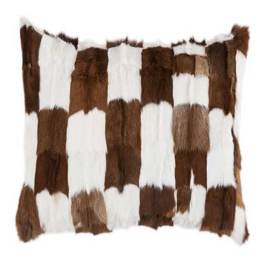 PL5009-OS-GO: HEA Goat Patched Hide Pillow - 16x26