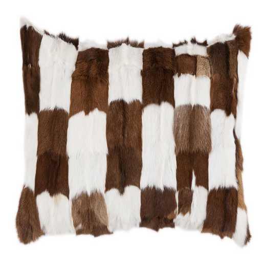 PL5009-OS-GO: HEA Goat Patched Hide Pillow - 16x26