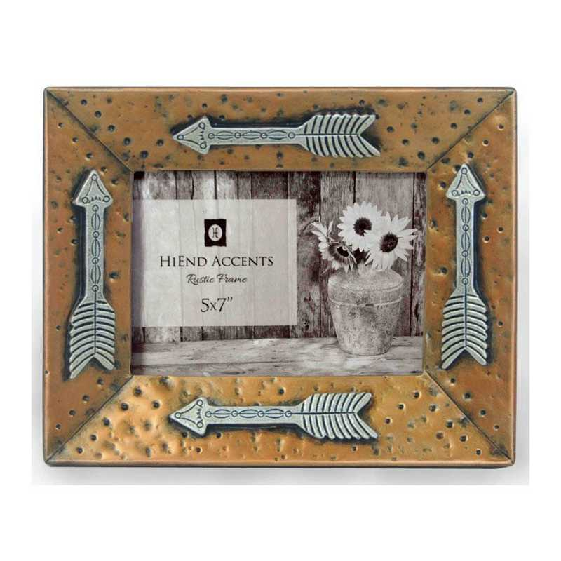 WD1701: HEA Gold Picture Frame w/ Arrows - 5x7