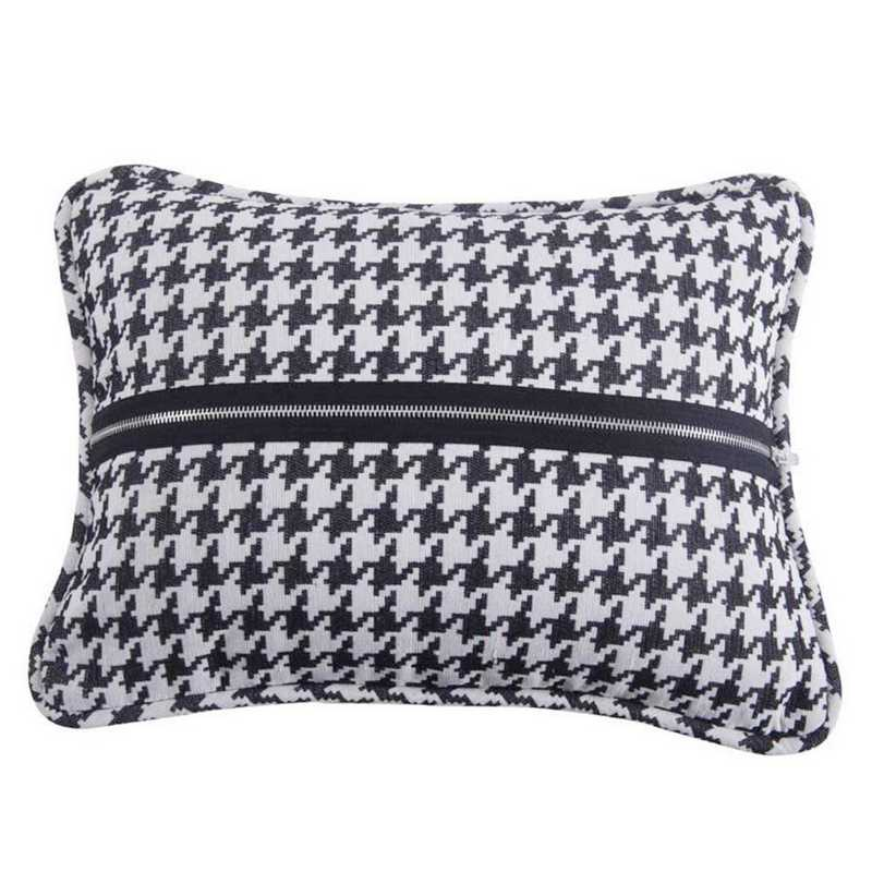 Hiend Accents Hamilton Houndstooth Oblong Pillow 17x13