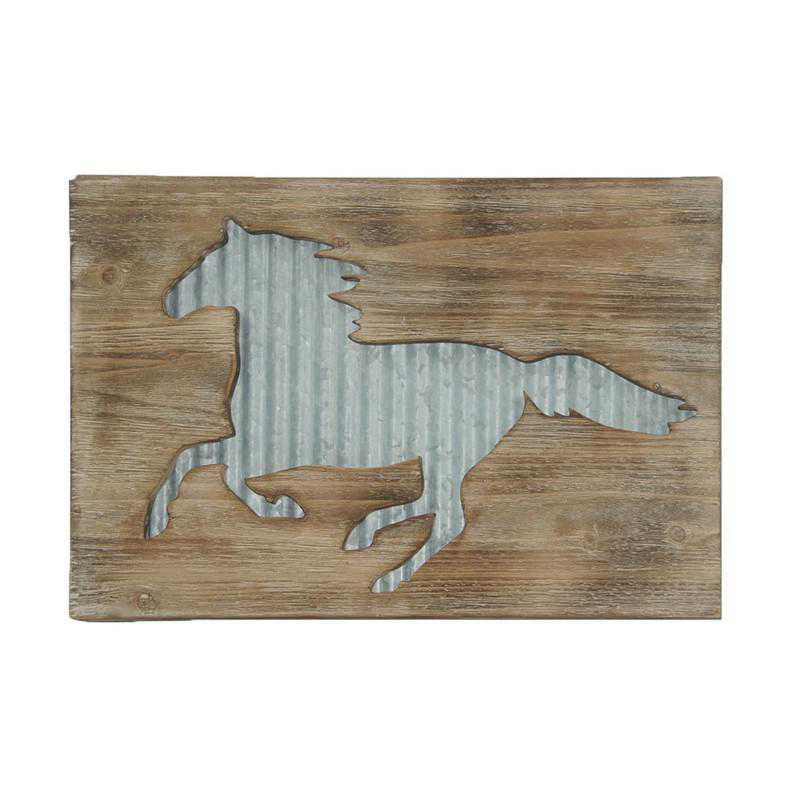 LD2401: HEA Horse Galvanized Metal Wall Hanging