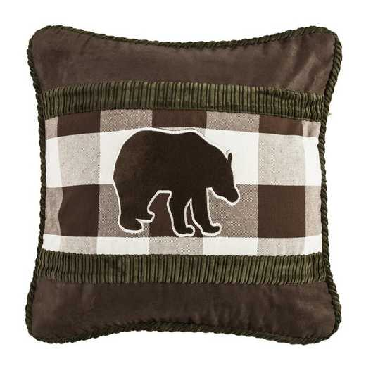 PL5127: HEA Huntsman Bear Claw Pillow 18x18