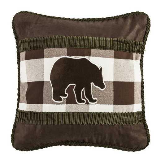 PL5127: HEA Huntsman Bear Claw Pillow 18x18