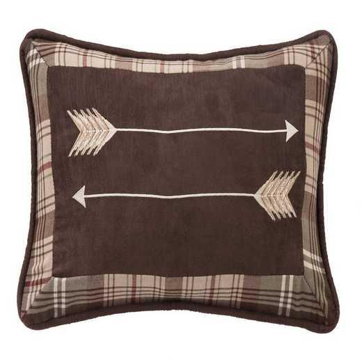 NL1731P3: HEA Huntsman Embroidered Arrow Pillow 12x19