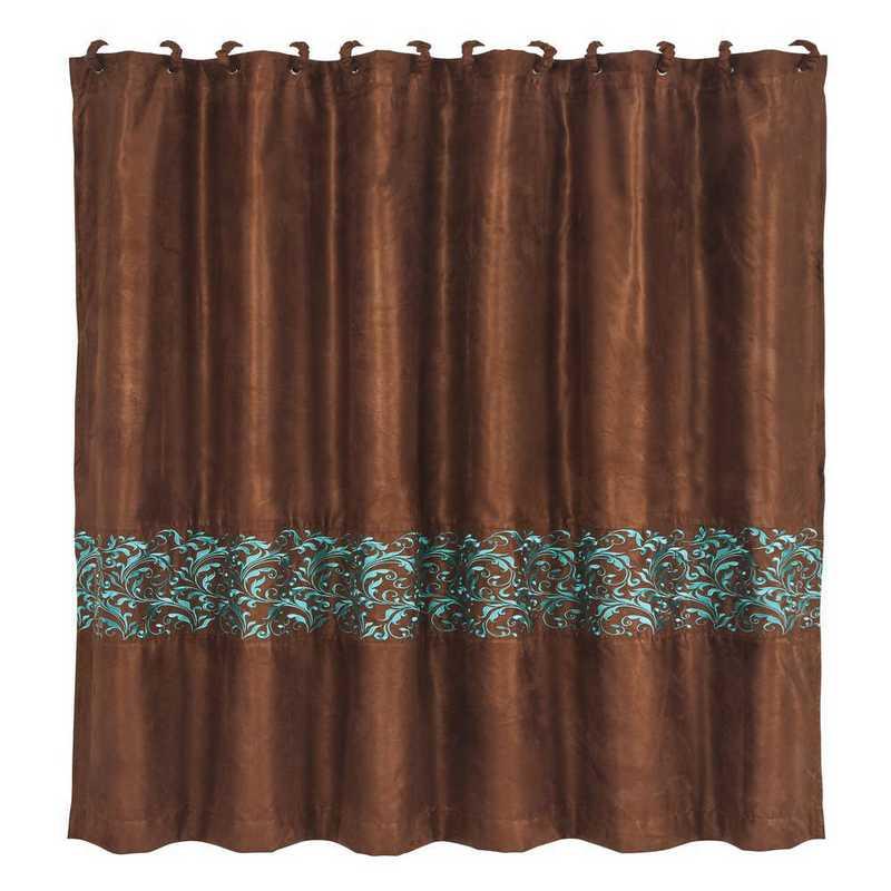 SC1762: HEA Wyatt Shower Curtain with Scroll Pattern