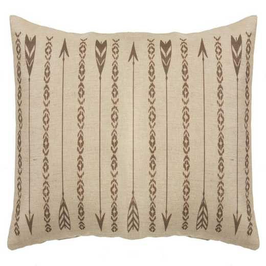 PL1811: HEA Long Arrows Burlap Pillow - 15x35