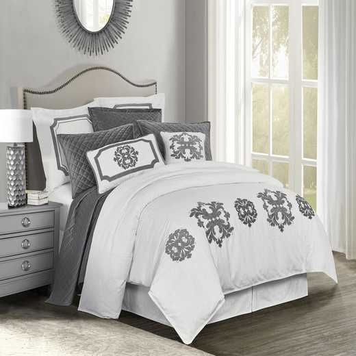 FB1755DU-SQ-GY: HEA Madison Grey Linen Duvet - Queen