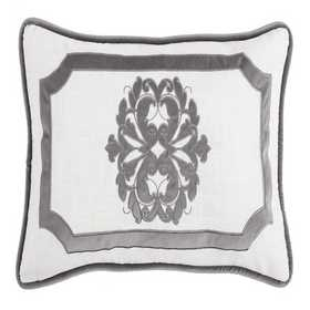 FB1755P1-OS-GY: HEA Madison Grey Oblong Pillow 16x16