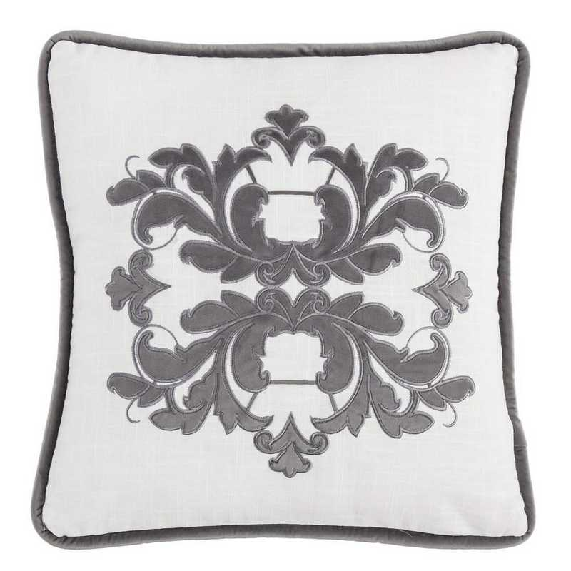 FB1755P2-OS-GY: HEA Madison Grey Square Pillow 72x72