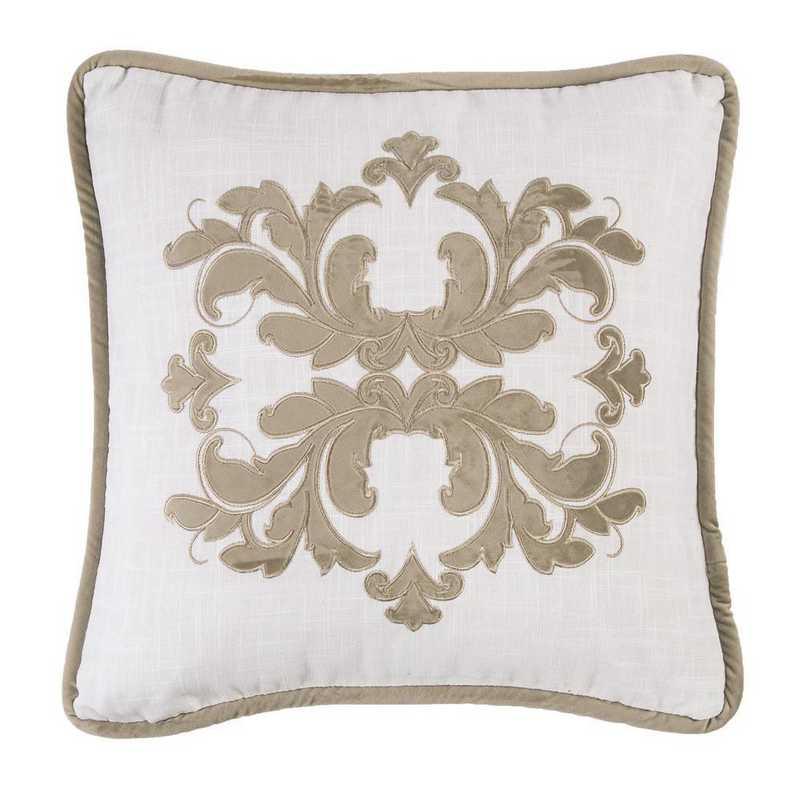 FB1755P2-OS-OM: HEA Madison Square Linen Pillow