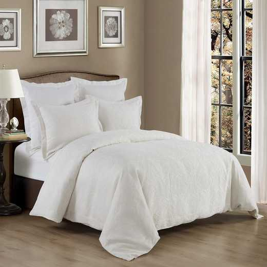 FB1755-SQ-OC: HEA 3pc Matelasse Coverlet - Queen