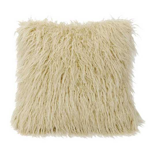 PL5003-OS-CR: HEA Mangolian Faux Fur Pillow - 18x18 Cream