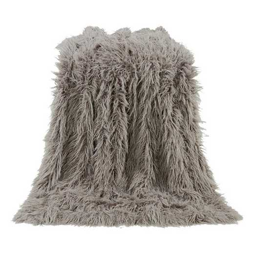 TR5003-OS-GY: HEA Mangolian Faux Fur Throw - 50X60 Grey
