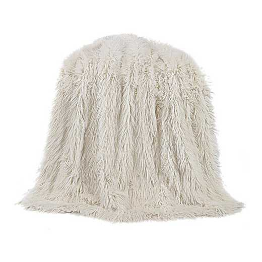 TR5003-OS-WH: HEA Mangolian Faux Fur Throw - 50X60 White