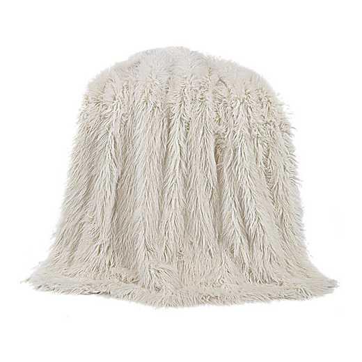 TR5003-OS-WH: HEA Mangolian Faux Fur Throw - 50X60 White