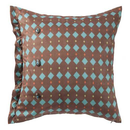 WS1753P5: HEA Printed Multi Diamond Suede Pillow 16x6