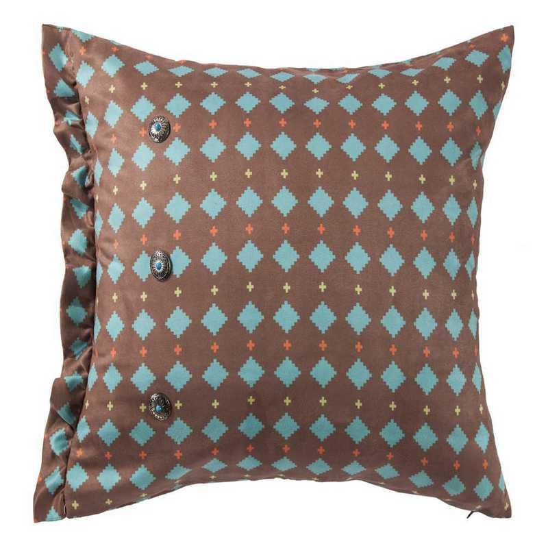 WS1753P5: HEA Printed Multi Diamond Suede Pillow 16x6