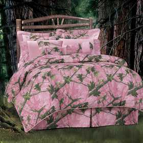 HiEnd Accents Oak Camo Comforter Set Pink