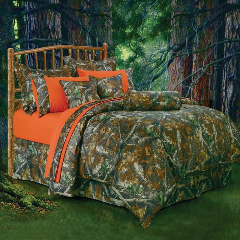 Hiend Accents Oak Camo Bedding Set