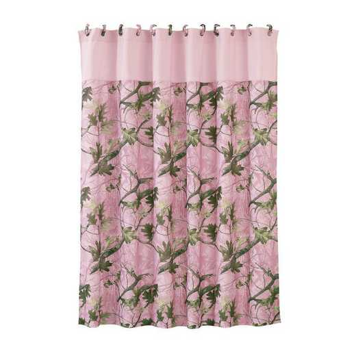 CM1002SC: HEA Pink Oak Camo Shower Curtain