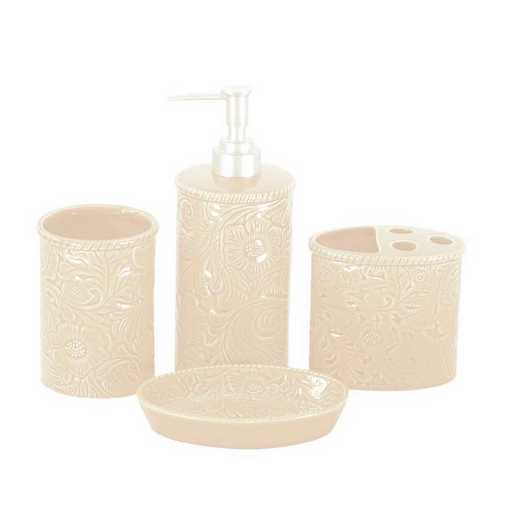 BA4001-OS-CR: HEA Savannah Bathroom Set - Cream