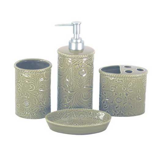 BA4001-OS-TP: HEA Savannah Bathroom Set - Taupe