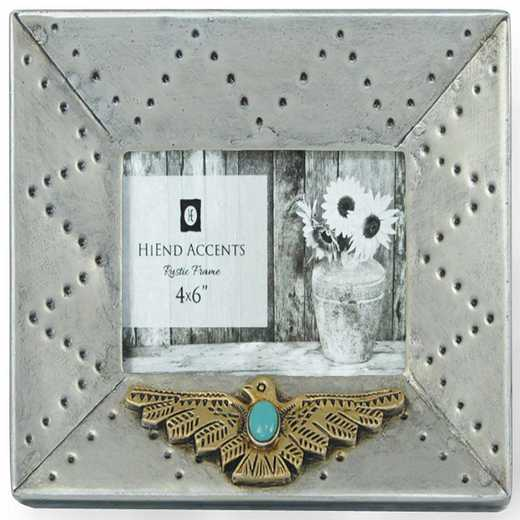 WD1703: HEA Silver Picture Frame w/ Thuderbird - 4x6