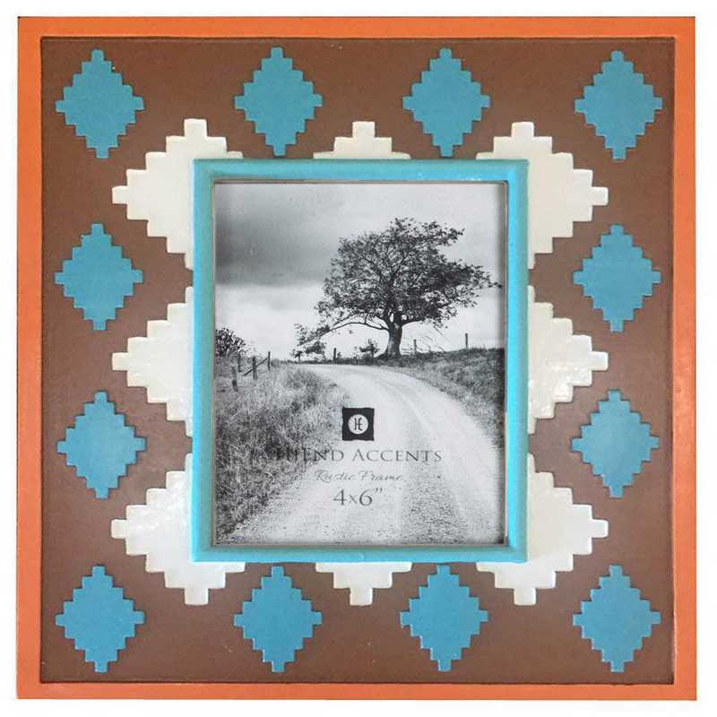 WD1702: HEA Southwest Pattern Picture Frame - 4x6