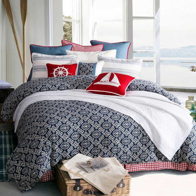 LK1682-SQ-OC: HEA 4pc St. Clair Bedding Set - Queen