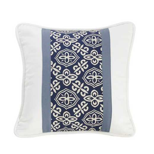 LK1682P3: HEA St. Clair Pieced Pillow with Stripe - 18x18