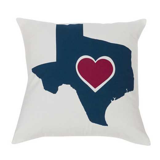 PL3125: HEA Texas Heart Pillow - 18x18