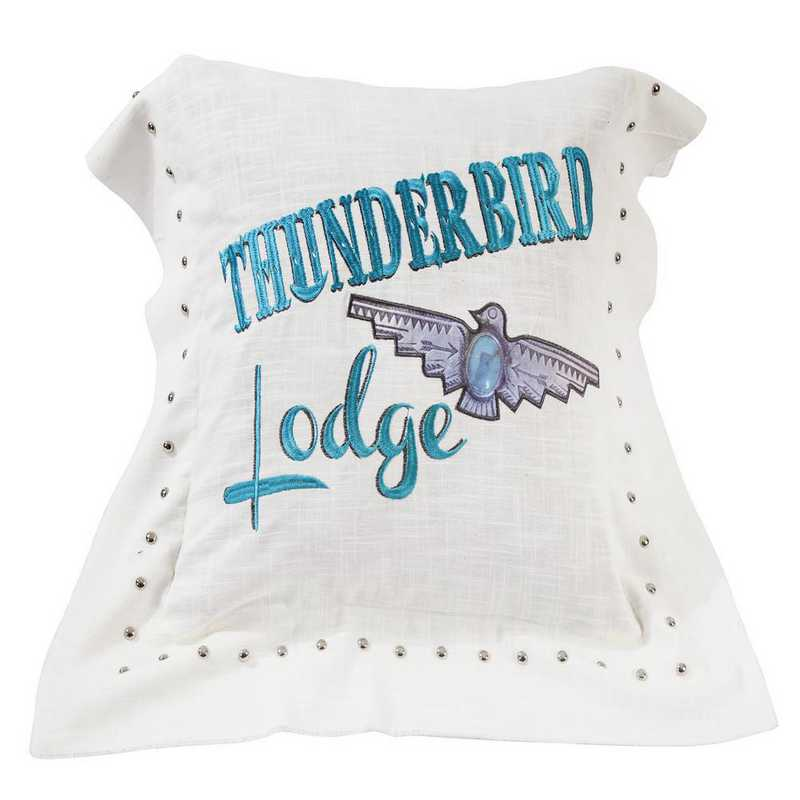 WS1753P3: HEA Thunderbird Linen Pillow 18x18