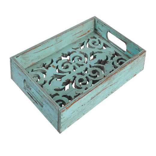 LD4002: HEA Turquoise Wooden Tray