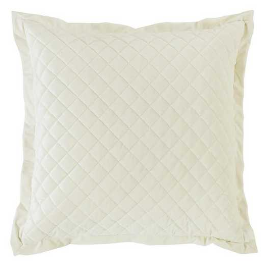 FB6300ES-OS-CR: HEA Quilted Velvet Euro Sham - Cream