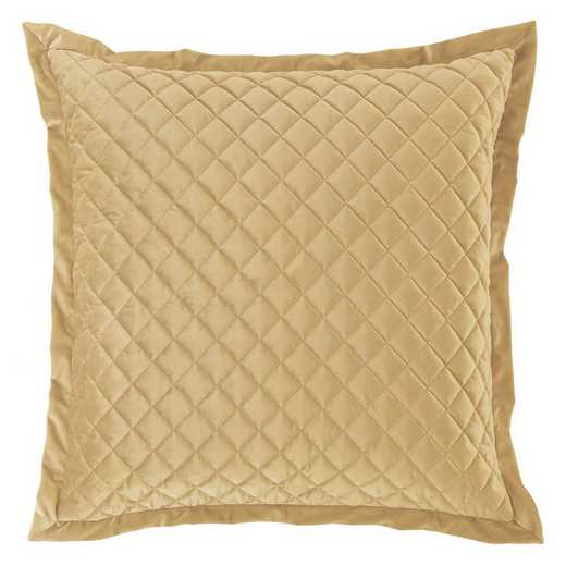FB6300ES-OS-GD: HEA Quilted Velvet Euro Sham - Gold