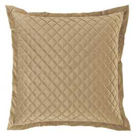 FB6300ES-OS-OM: HEA Quilted Velvet Euro Sham - Oatmeal
