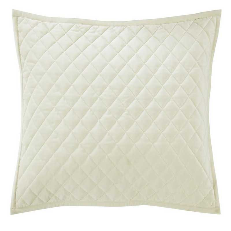 FB6300PS-KS-CR: HEA Quilted Velvet King Pillow Sham - Cream