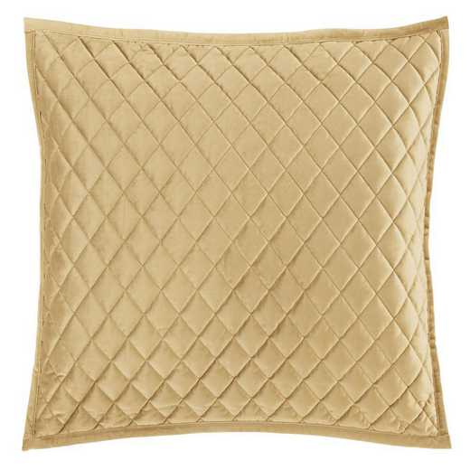 FB6300PS-KS-GD: HEA Quilted Velvet King Pillow Sham - Gold