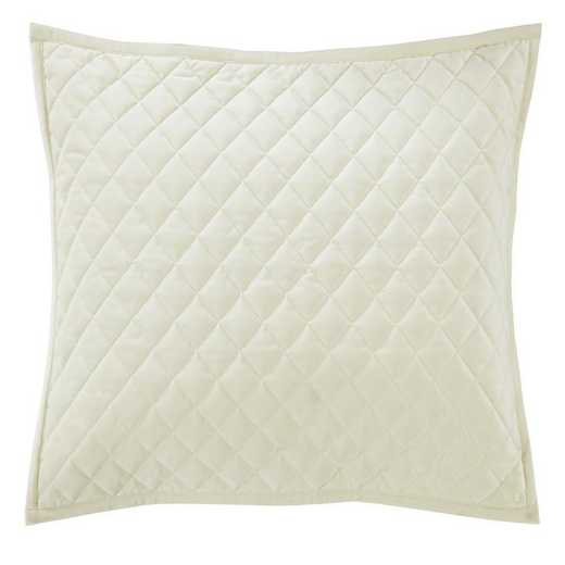 FB6300PS-SS-CR: HEA Quilted Velvet Standard Pillow Sham - Cream